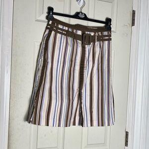 Biacci skirt 4 mini striped euc womens